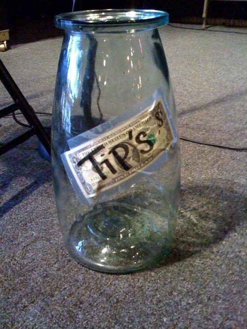 Tip's jar.