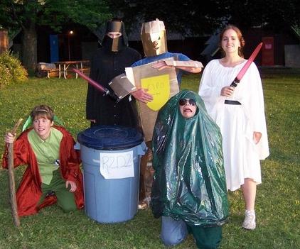 Random people in bad costumes