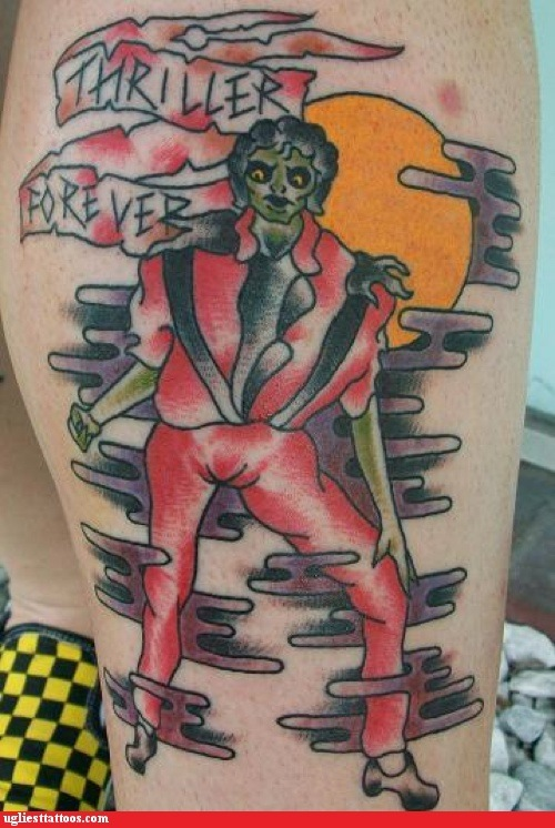Thriller Forever Calf Tattoo