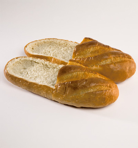 Shoes that are made of bread
