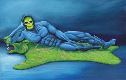 Skeletor posed seductively